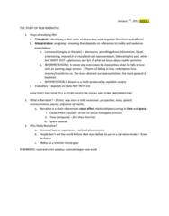 FS101 Lecture Notes - Semiotics, Narration, Brian De Palma