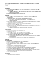 PSYC 370 Chapter Notes -Heinz Hartmann, Anna Freud, Erik Erikson