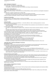 Psychology 2550A/B Chapter Notes -Personality Psychology, Social Skills, Twin Study