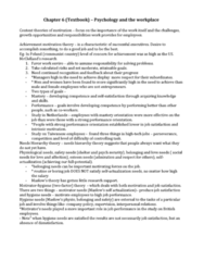 Psychology 2990A/B Lecture Notes - Job Satisfaction, Job Performance, Job Enrichment