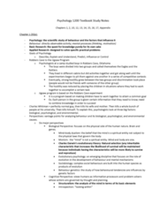 PSYC 2310 Chapter Notes -Syphilis, Motivational Interviewing, Hypochondriasis