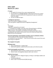 ENGL 2Q99 Lecture Notes - Robert Crumb, Belly Dance, Bildungsroman