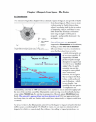 Geography 2240A/B Lecture Notes - Carbonaceous Chondrite, Impact Crater, Chondrule