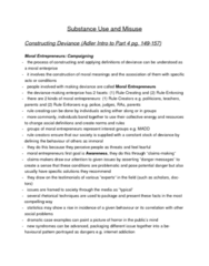 SOC 2070 Chapter Notes -Moral Panic, Harrison Narcotics Tax Act, Youth Smoking