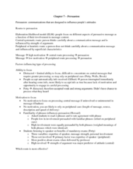 PSYC 2310 Chapter Notes - Chapter 7: Attitude Change, Collectivism, Stress Management