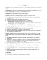 PSYC 2310 Chapter Notes - Chapter 8: Pluralistic Ignorance, Grammatical Gender, Minority Influence