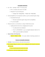 CHEM 2OA3 Lecture Notes - Leaving Group, Nucleophile, Weak Base