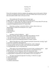 SOC103H1 Study Guide - Midterm Guide: Urban Sociology, Population Reference Bureau, Thomas Robert Malthus