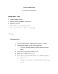 ASIA 2170 Lecture Notes - Thirteen Factories, Canton System, Unequal Treaty
