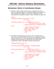 Metrics 4 Metrics Mastery Worksheets - with answers.doc