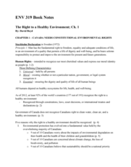 ENV 319 Chapter Notes - Chapter 1: Rotterdam Convention, Environmental Protection, World Values Survey