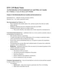 ENV 319 Lecture Notes - Kyoto Protocol
