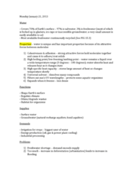 ENSC 1005 Lecture Notes - Goby, Silt, Thermal Pollution