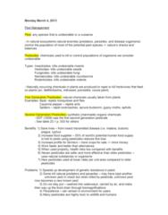 ENSC 1005 Lecture Notes - Biological Agent, Resistance 3, Rodenticide