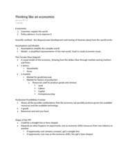 ECON102 Lecture Notes - Opportunity Cost