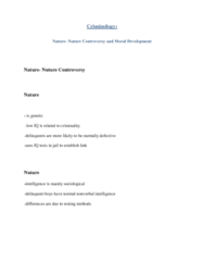 CRIM 1125 Lecture Notes - Fear, Lawrence Kohlberg