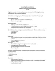 PSYC 1000 Study Guide - Linguistic Determinism, Benjamin Lee Whorf, Belief Perseverance