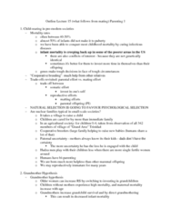 PSYC 3100 Lecture Notes - Lecture 15: Parental Investment, Sibling Rivalry, One Unit
