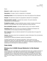 SOC 232 Lecture Notes - Stratified Sampling, Nonprobability Sampling, Cluster Sampling