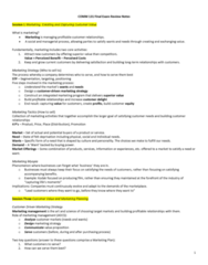 COMM 131 Study Guide - Final Guide: Brand Equity, Customer Retention, Operant Conditioning