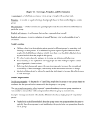 PSYC 2310 Chapter Notes - Chapter 11: Confirmation Bias, European Canadian, Symbolic Racism