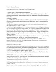 FILM 1701 Lecture Notes - Benshi, Gendai-Geki, Jidaigeki