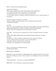 FILM 1701 Lecture Notes - Class Consciousness, Cuban Revolution, Fidel Castro