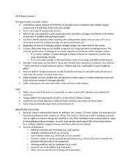 CIVTECH 3CS3 Lecture Notes - Lecture 2: Soil Horizon, Circulatory System, Bronchitis