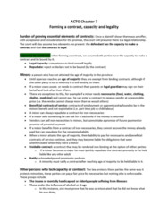 ACTG 2P40 Chapter Notes - Chapter 7: Legal Personality, Indian Act, Precontract