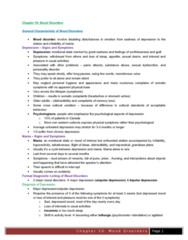 PSYC 3460 Chapter Notes - Chapter 10: Bipolar Ii Disorder, Mood Disorder, Mixed Affective State