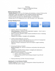 COMM 131 Chapter Notes - Chapter 2: Marketing Plan, Customer Relationship Management, Marketing Mix