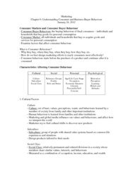 COMM 131 Chapter Notes - Chapter 6: Reference Group, Consumer Behaviour, Working Mother