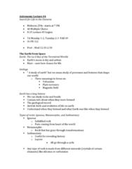 Astronomy 2021A/B Lecture Notes - Fossil, Geochemistry, Half-Life