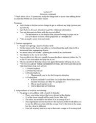 Psychology 2115A/B Lecture Notes - Lecture 17: The Features, Visual Impairment, Habituation