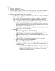 CLAS 2051 Lecture Notes - Loyal Wife, Clytemnestra, Melodrama