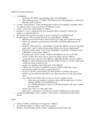 CLAS 2051 Lecture Notes - Assemblywomen, Lysistrata, Thesmophoria