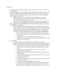 CLAS 2051 Lecture Notes - Capitoline Hill, Sabines, Tarpeia