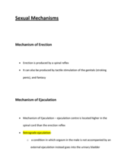HSCI 1120 Lecture Notes - Retrograde Ejaculation, Stretch Reflex, Ejaculation
