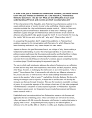 POL200Y1 Chapter Notes -Allan Bloom, Polemarchus, Glaucon