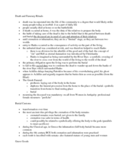 CLAS 2531 Lecture Notes - Ancient Rites, Burial, Grave Goods