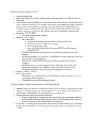 CLAS 2531 Lecture Notes - Capitoline Hill, Roman Forum, Pomerium