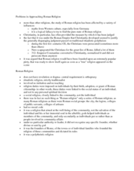 CLAS 2531 Lecture Notes - Orthopraxy, Polytheism, Roman Citizenship