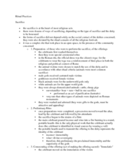 CLAS 2531 Lecture Notes - Roman Rite, Lustratio, Suovetaurilia