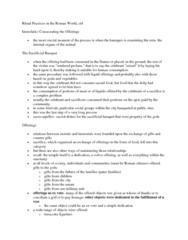 CLAS 2531 Lecture Notes - Pater Familias, Haruspex, Uterus