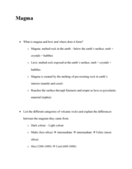 GEOL 2207 Lecture Notes - Pyroclastic Fall, Gravitational Collapse, Mafic