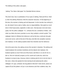 ENGL 1121 Lecture Notes - Postpartum Depression, Charlotte Perkins Gilman