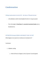 GEOL 2207 Lecture Notes - Fluid Parcel, Cloud Base