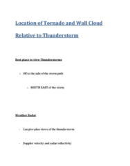 GEOL 2207 Lecture Notes - Meteorology, Tornado Vortex Signature, Hook Echo