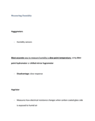 GEOL 2207 Lecture Notes - Capacitance, Hygrometer, Hydrometer