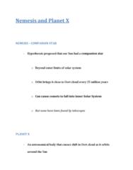 GEOL 2207 Lecture Notes - Oort Cloud, Milky Way, Kuiper Belt